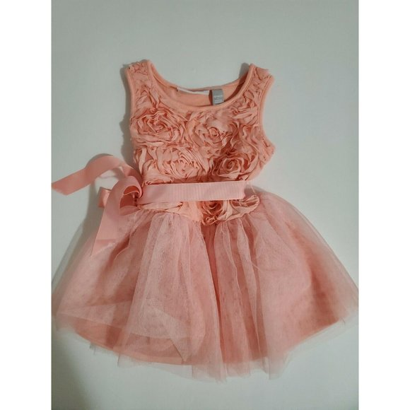 The Childrens Place Baby 18-24 Months Peach Dress